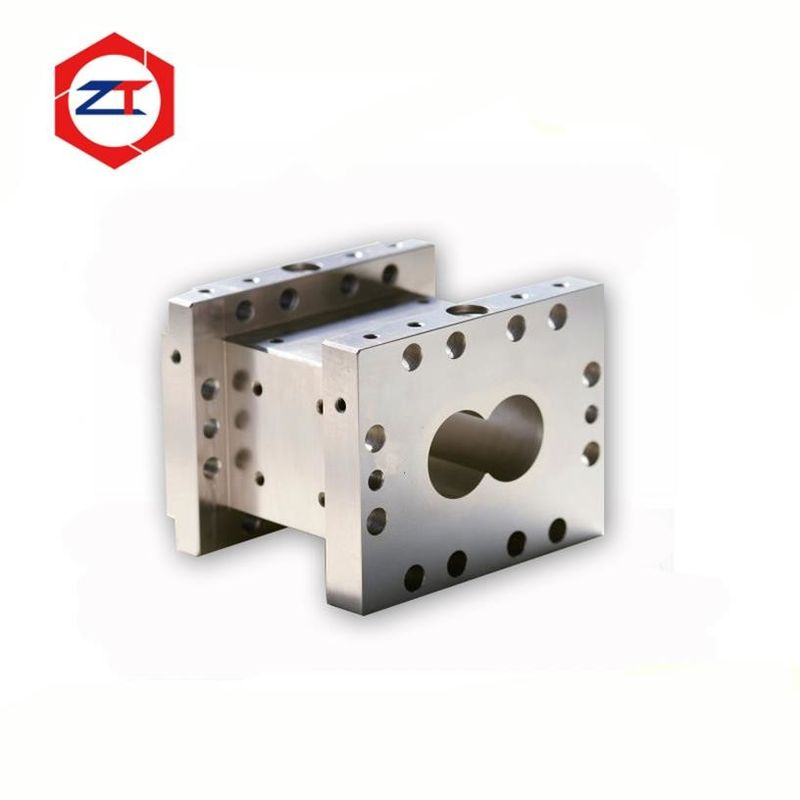 50mm High Polishing Pellet Mill Machine Parts , Side Feeder Barrel 38CrMoAl Good Hardness